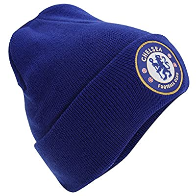 Chelsea FC Official Adults Knitted Winter Soccer/Football Crest Hat