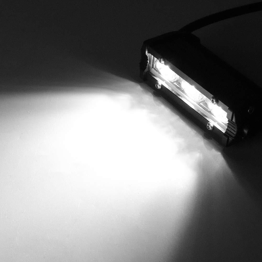 Qiilu 9W simple barre de lampe de travail IP67 imperm/éable de travail de tache de la rang/ée 3 LED