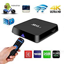 M8S Android TV Box - TopYart Android Box Android 6.0 Amlogic S912 2GB DDR3 16GB EMMC Octa Core 4K Resolution 2.4G/5G Dual Band Wifi Bluetooth Mini PC Box