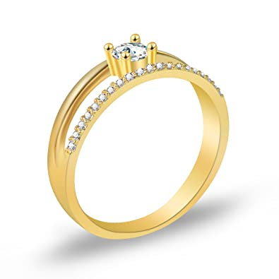 Koloveada Damen Ringe Damen Ring Gold Verlobungs Ringe Mit