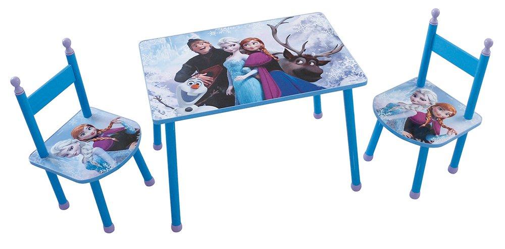 FUN HOUSE 712505Disney Frozen Set Tavolo con 2sedie per bambini in MDF Blu 60x 40x 44cm CIJEP