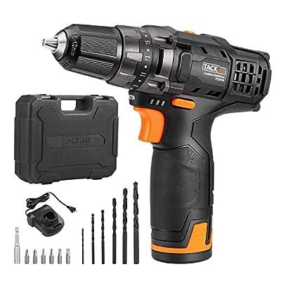 TACKLIFE Cordless Drill and Battery