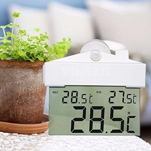 NEW!! Digital Display Window Thermometer Read C/F Indoor Outdoor With Suction Cup by Karen Low