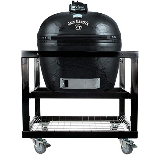 Primo Oval XL 400 Ceramic Smoker Grill Jack Daniel's Edition On Cart by Primo