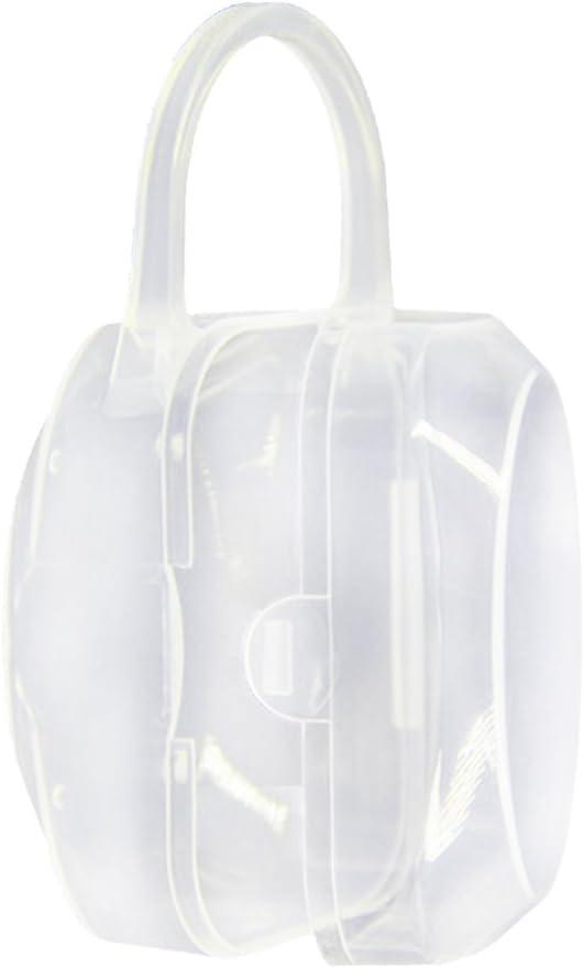 11 * 5.6 * 5cm portable clair Safe b/éb/é sucette t/étine poussi/ère B/éb/és Bo/îtes de rangement Lot de 2/bo/îtes pour b/éb/és transparent