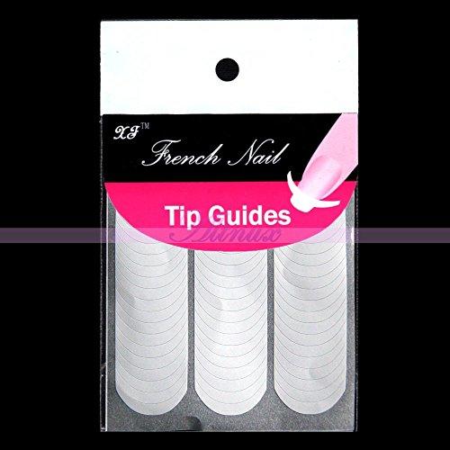 Générique Nail Art 10 Pcs Fringe guides Autocollant formulaire Manucure française Conseils Pochoir Décoration
