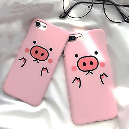 shoppingmal Couples Cute Pink Pig Coffee Phone Cases covers for iPhone X 8 8plus 7 7plus 6 6s 6Plus 5s 5 SE coque fundas capinha celular for iphone