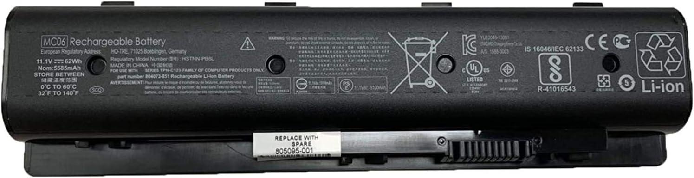 BOWEIRUI HSTNN-PB6L MC06 (11.1V 62Wh 6200mAh) Laptop Battery Replacement for Hp Envy m7-n109dx m7-n011dx 17-r 15-AE100 17-N000 M7-N101DX 17T-N000 Series MC04 804073-851 805095-001 806953-851