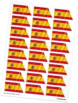 24 Schokoladena pegatinas para napolitanos - bandera de España: Amazon.es: Deportes y aire libre