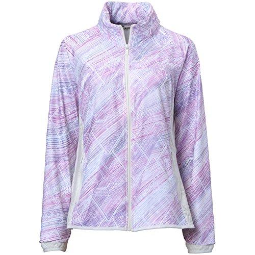 Spanner Golf Womens Cosmic Swirl Full Zip Jacket Pink/White S