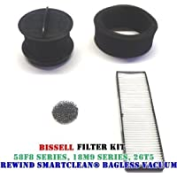 Bissell Rewind Smart Clean/ Power Clean/ Power Helix Filter Replacement Kit.