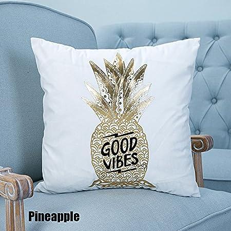 CALISTOUK Creative Shining Gilding Pattern Design Soft Pillow Cushion for House Car Bed Decor,LOVE