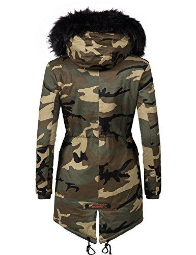 d'hiver XS Couleurs Marikoo Veste XXL pour Dame Parka Rose 8 Camouflage w818OqEx