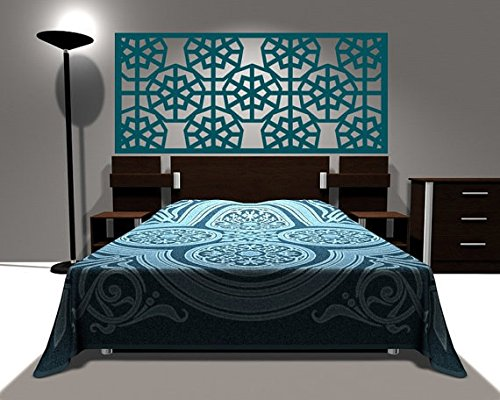 Headboard decal vinyl wall decal queen Size Bed Geometric Dor Decals home wall sticker stickers - Dor Accent