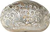Maxim 24158BCGS Arabesque 1-Light Wall Sconce, Golden Silver Finish, Beveled Crystal Glass, G9 Clear Xenon Xenon Bulb , 13W Max., Wet Safety Rating, 2700K Color Temp, Glass Shade Material, 900 Rated Lumens