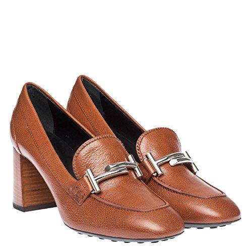Tod's Femme XXW0ZM0Q950E4VS018 Marron Cuir Chaussures À Talons
