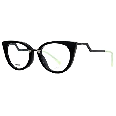 ddd87ce215 FENDI Eyeglasses 0119 0AQM Black 50MM at Amazon Men s Clothing store