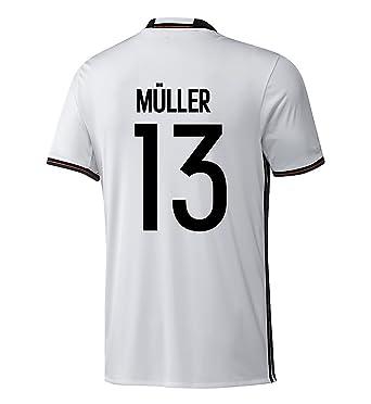 0a2dfdeda Amazon.com  Adidas Muller  13 Germany Home Soccer Jersey Euro 2016 ...