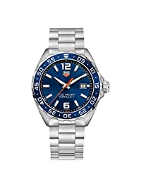 TAG Heuer Men's Formula 1 43mm Steel Bracelet & Case Quartz Blue Dial Analog Watch WAZ1010.BA0842