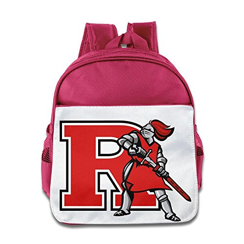 XJBD Custom Superb Rutgers University R Logo Boys And Girls Schoolbag For 1-6 Years Old Pink ()