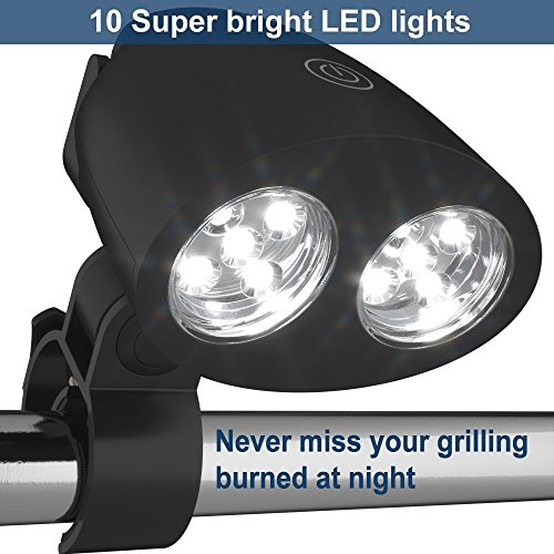 Eocol-BBQ-Grill-Light-10-LED-Ultral-Bright-Outdoor-Barbecue-Accessory-Handle-Mount-for-Gas-Charcoal-Electric-Grills-Almost-Fit-Any-Grills-Weather-Resistant-Cave-Tools