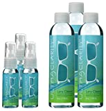 Set of 3 Ultra Clarity Lens Cleaner 1 oz Spray Bottle and 6 oz Refill Bottle, Biodegradable Lens Cleaning Spray, Professional Lens Cleaning Kit, For Standard & Anti Reflective Lenses