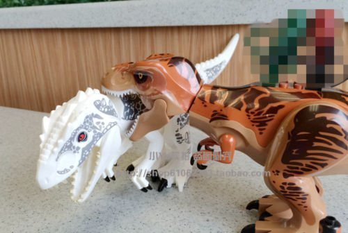 BIGOCT Jurassic World Tyrannosaurus Rex Building Toys, 2-Pie