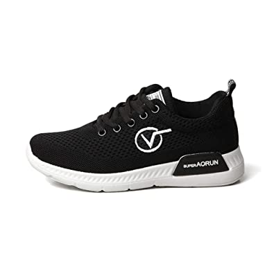 25ed40721 YANJK Running Shoes Fashion Trend Casual Shoes mesh Breathable Women's  Sports Shoes Black