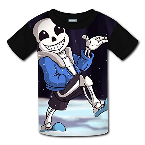 Short Sleeve Shirts Print With Skull For Kids XL - Make Tintin Costume