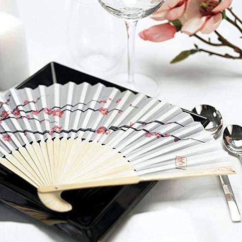 Cherry Blossom Hand Fans (Pack of 6)