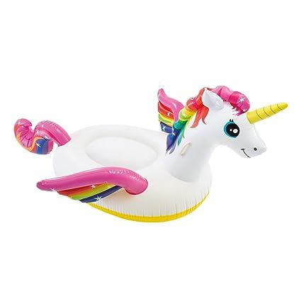 Intex 57561NP - Unicornio hinchable tamaño mediano 201x140x97 cm