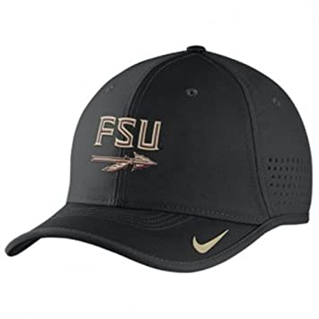 e82ca4f243f Nike College Vapor 2016 Sideline Coaches Cap with Block FSU and Spear Black   Amazon.ca  Sports   Outdoors