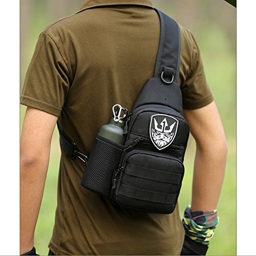 CREATOR Mini Portable Crossbody Chest Bag Shoulder Sling Backpack Military  Tactical Water resistant Backpack for Cycling 6e11db7a0a9b3