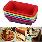 Bluelover Silicone Toast Cake Mold Pan Cake Baking Molds Moulds