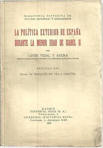 La politica exterior de España Durante La menor Edad De Isabel II ...