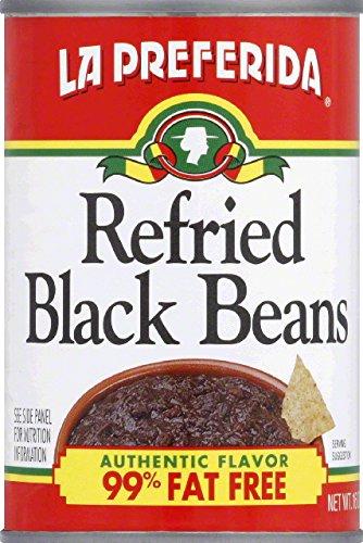 La Preferida Refried Black Beans Low Fat, 16-Ounce (Pack of 12)