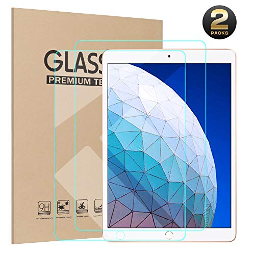 Ztotop Screen Protector for iPad Air 3 10.5 inch 2019/iPad Pro 10.5 2017(2-Pack), High Definition/Scratch Resistant and Apple Pencil Compatible 9H Tempered Glass Screen -
