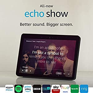 All-New Echo Show (2nd Gen), Black + Philips Hue White Bulb E27