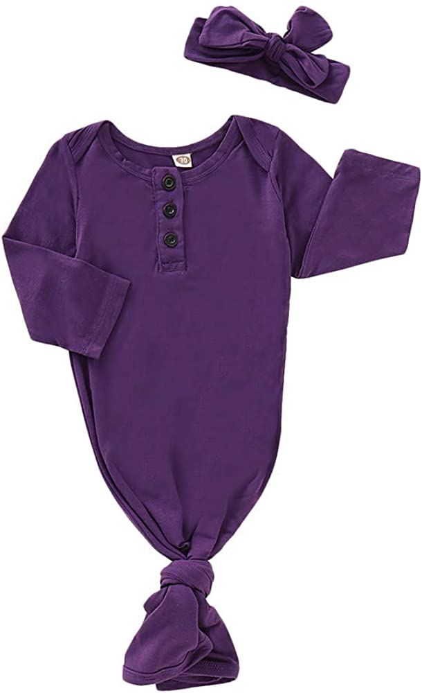 Baby Girl Gowns Newborn Infant Baby Girls Sleeping Gown Swaddle Pajamas Coming Home Outfits