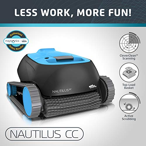 Dolphin Nautilus CC Automatic Robotic Pool Cleaner - Ideal for Above and In-Ground Swimming ...