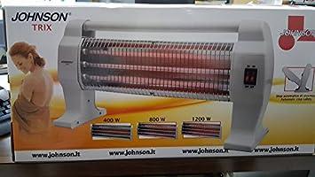 Johnson Trix Estufa Estufa Eléctrica al cuarzo 3elementi Potenze 400/800/1200 W