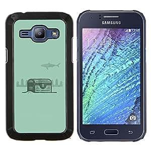 Stuss Case / Funda Carcasa protectora - Verde Tesoro Diver Submarinismo - Samsung Galaxy J1 J100
