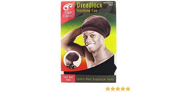 22c03ea6b31 Amazon.com   Titan Classic Dreadlock Stocking Cap - Black   White ...