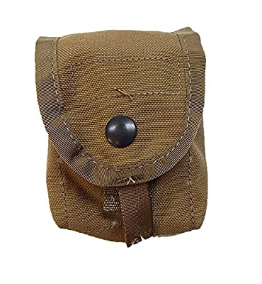 US Military MOLLE II Single Hand Grenade Tactical Pouch, Coyote