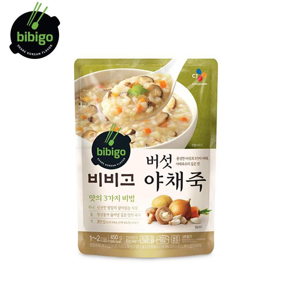 BIBIGO Rice Porridge with Mushroom and Vegetable Korean Ready Meal Healthy Instant Porridge
