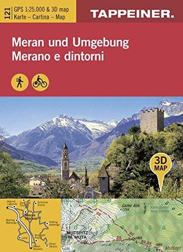 KOKA121 Kombinierte Wanderkarte Meran und Umgebung - GPS kompatibel - Maßstab 1:25.000 (Kombinierte Sommer-Wanderkarten Südtirol)