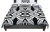 KESS InHouse Pom Graphic Design ''Africa'' Black White Twin Comforter, 68'' X 88''