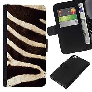 Leather Etui en cuir    HTC Desire 820    la naturaleza de cebra patrón de pieles de animales de África @XPTECH