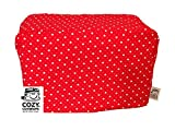 4 slice toaster cover red - CozyCoverUp for Dualit Toasters 100% cotton Handmade in the UK (Red Hearts, 4 Slice Clasic New Gen)
