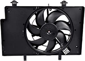 ECCPP Condenser Radiator Cooling Fan Assembly FO3115186 Replacement fit for 2011-2017 Ford Fiesta 1.0L 1.6L